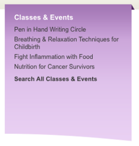The CourseStorm widget on the MaineGeneral site