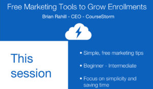 Free marketing tools 2019 CAACE Conference presentation cover