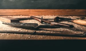 Photo of traditional carpentry tools by Alexander Andrews on Unsplash