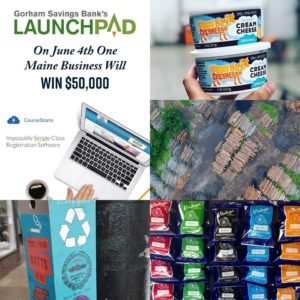 LaunchPad promotional image featuring photos representing each selected company