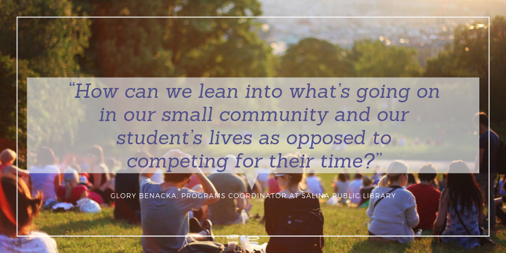 """How can we lean into what's going on in our small community and our student's lives as opposed to competing for their time?"""